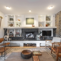Bucktown Renovation for Two Artists: Living room