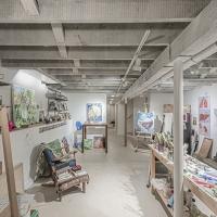 Bucktown Renovation for Two Artists: Artist studio