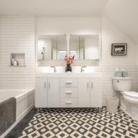Bucktown Renovation for Two Artists: Master bathroom