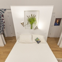 Bucktown Renovation for Two Artists: Master bedroom