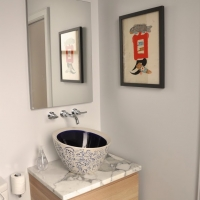 Bucktown renovation: Master bathroom