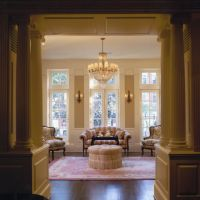Chicago Greystone: Living room