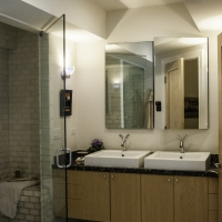 Lincoln Park Rehab: Master bathroom