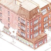 New England Avenue: Isometric view