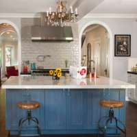 Roscoe village Rehab: Remodeled kitchen