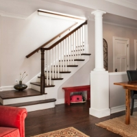 Roscoe village Rehab: Stair hall