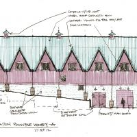 "Proposed Winery in Southwest Michigan: Elevation ""A"""