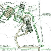 "Proposed Winery in Southwest Michigan: Site plan ""A"""