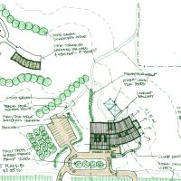 "Proposed Winery in Southwest Michigan: Site plan ""B"""