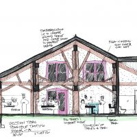 "Proposed Winery in Southwest Michigan: Tasting room ""A"""